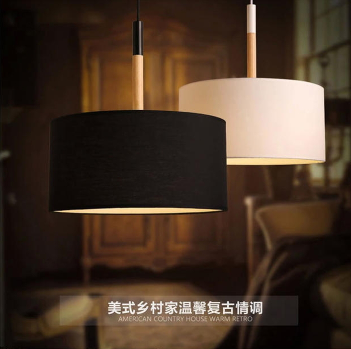 Northern european modern pendant light simple restaurant dining room northern european modern pendant light simple restaurant dining room solid wood circular fabric lamp shade personality creative in pendant lights from aloadofball Gallery