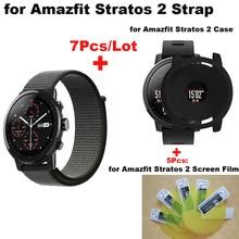Купить с кэшбэком for Amazfit Stratos Smart Watch Strap 22mm Nylon Pulsera Correa for Original Xiaomi Huami Amazfit Stratos 2 Black Bracelet Band