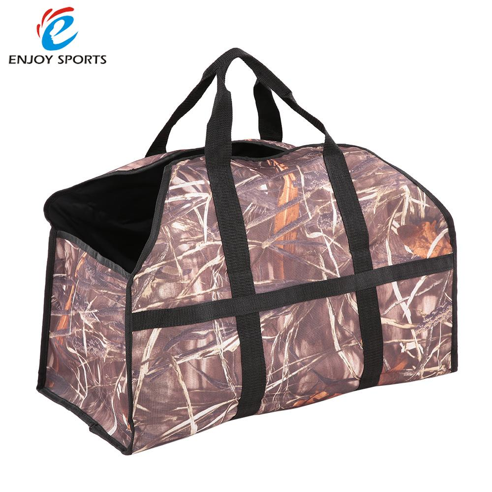 600d oxford cloth log carrier tote charcoal wood firewood holder 2 handles bag log carrier outdoor - Firewood Carrier