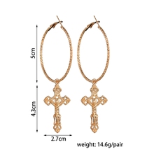 FREE SHIPPPING !! Cross Pendant Earrings Drop Earrings Vintage Fashion Jewelry Accessories JKP994