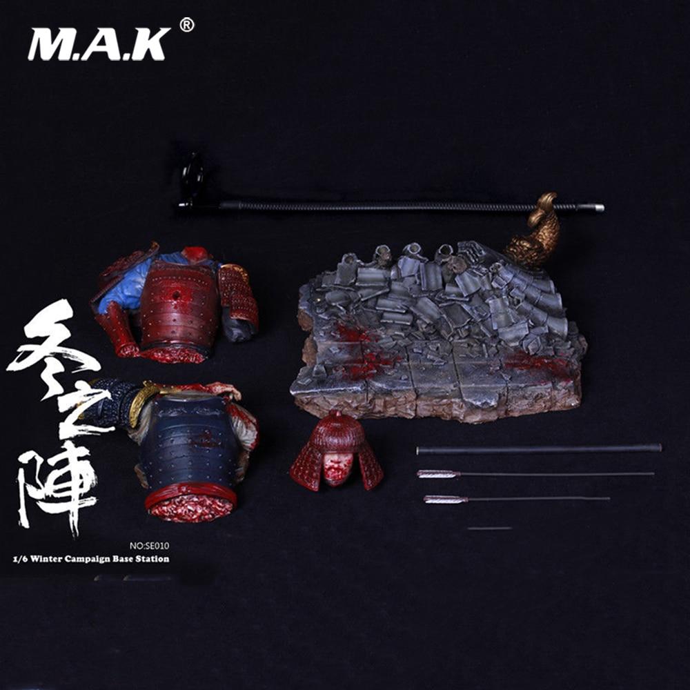 SE010 1/6 échelle Figure scène accessoires japon états en guerre campagne d'hiver Base Station plate-forme pour figurine 12''