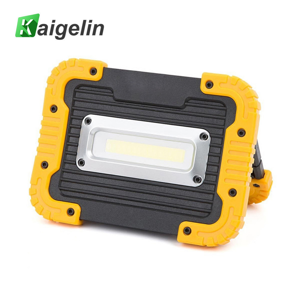Kaigelin 10W Rechargeable COB LED Flood Light 750LM Portable Camping LED Work Lamp Emergency Power Bank Camping Hunting Lantern