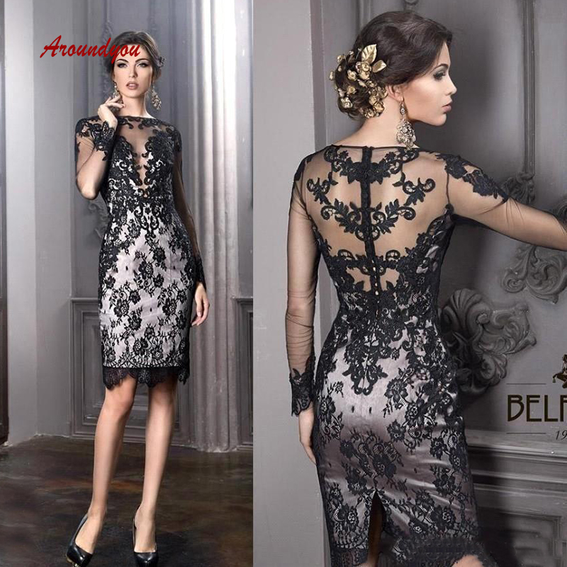 Lace Mother Of The Bride Dresses For Weddings Knee Length Sexy Gowns Groom Godmother Dinner Dresses 2019