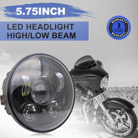 CO LIGHT Motorbike Accessories 5.75 40W High Low Headlight Motorcycle for Harley Led Headlight Projector Daymaker Parking Light