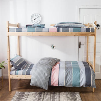 100% Cotton Bedding Sets Stripe Pattern 3pcs Bedding Sets