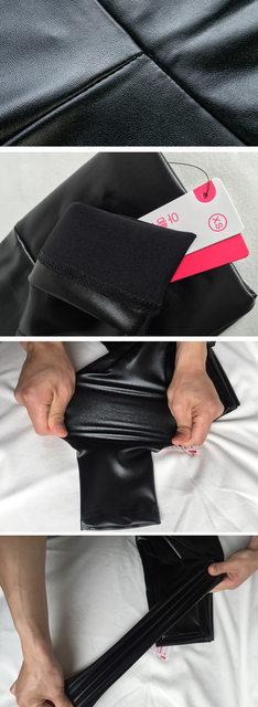 10 Colors Winter Leggings For Women High Waist Black Leather Pencil Pants Autumn Plus Size Skinny Slim Shiny Fleece Trousers 27