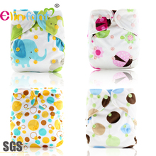 Elinfant os diaper cover waterproof PUL with reusable baby cloth diaper adjustable wrap used with washable insert(China)