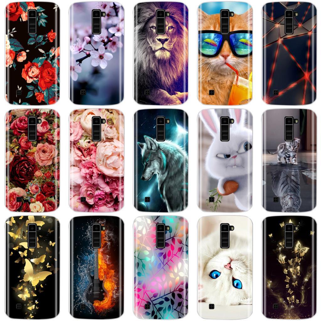 For LG K10 Cover Soft TPU Phone Case For LG K10 LTE K420N K430 K430ds Cases Silicone Back Cover For LG K10 2016 Capas Fundas