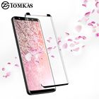 TOMKAS Screen Protector For Samsung Galaxy S9 Glass 3D Curved Edge Easy to Install For Samsung S8 Plus S9 Plus Tempered Glass