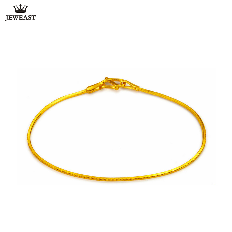 X24K Pure Gold Bracelet Real 999 Solid Gold Bangle Shiny Serpentine Simple Fashion Upscale Trendy Fine Jewelry Hot Sell New 2018X24K Pure Gold Bracelet Real 999 Solid Gold Bangle Shiny Serpentine Simple Fashion Upscale Trendy Fine Jewelry Hot Sell New 2018