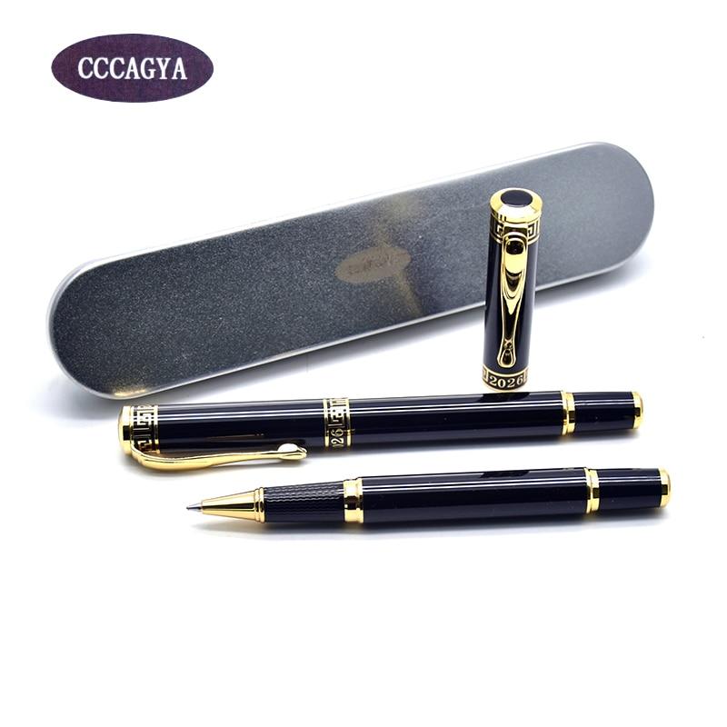 CCCAGYA Q013 classic copper metal Gel pen Refills Learn office school stationery Gift luxury pen hotel business Writing pen