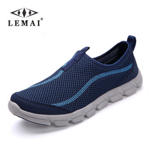 LEMAI 2017 New Men Casual Shoes, Summer Mesh For Men,Super Light Flats Shoes, Foot Wrapping Big Size #36-44(China)