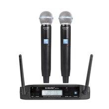 G MARK GLXD4 Draadloze Microfoon Professionele Uhf Dual Systeem SM58 Handheld Mic Podium Toespraak Bruiloft