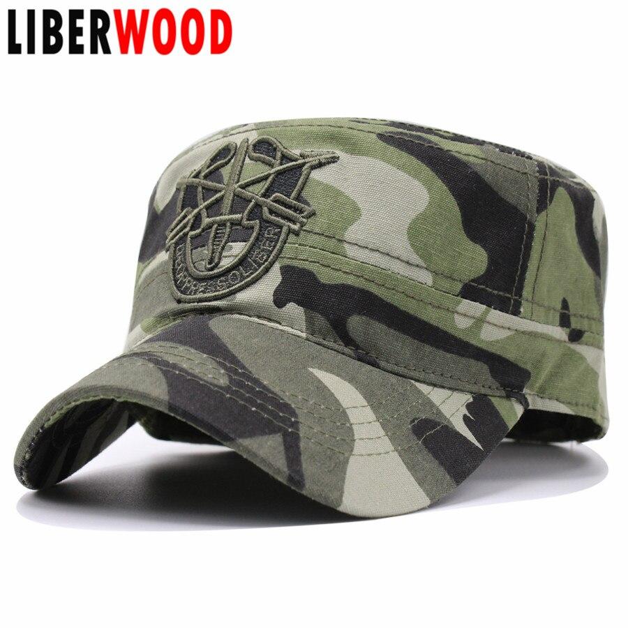 6267a3b3e633d États unis US Army Special Forces flat top cap chapeaux Flèche