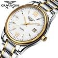 Original de la Marca GUANQIN Hombres Relojes de Primeras Marcas de Lujo de Negocios Reloj de pulsera para hombres Reloj Luminoso Reloj de Cuarzo de Oro reloj hombre