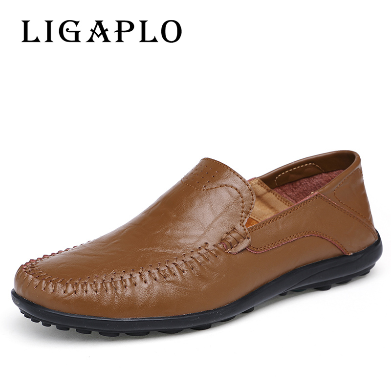 Men Genuine Leather Shoes  High Quality 38-47 Fashion Shoes For Men Designer Shoes Casual Breathable Mens Shoes Comfort Loafers cyabmoz plus size 38 47 fashion men shoes breathable casual moccasins men loafers high quality genuine leather shoes men flats