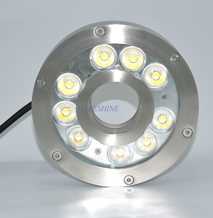 304/316 stainless steel 24V IP68 9W Underwater LED Light for Fountain White Swimming Pool Light Landscape light D160XH36MM 100% ip68 waterproof 304 stainless steel recessed led swimming pool light rgb underwater light 9w white fountain lamp dc24v