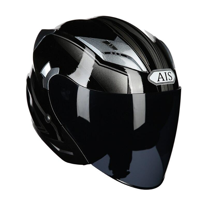Casque de moto moto à face ouverte pour moto cicleta cascos pour moto de course casques vintage avec double objectif