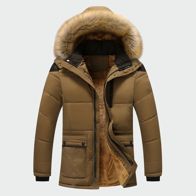 Winter Jacket Men Brand Clothing Fashion Casual Slim Thick Warm Mens Coats Parkas With Hooded Long Overcoats Male Clothes ML026 1