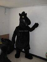 Талисман черная лошадь костюм талисмана обычай необычные костюмы аниме косплей комплект mascotte тема маскарадный костюм костюм карнавал