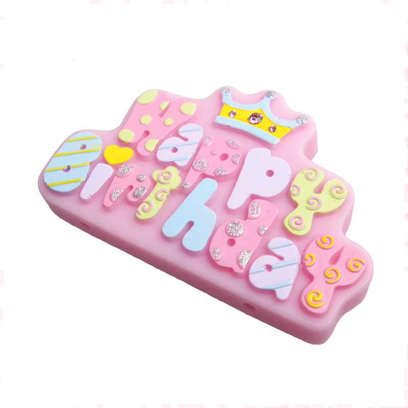 Luyou 1PCS Happy Brithday Letters Numbers Heart Shape Fondant Molds For Cake Decorating Tools ,Silicone Mold FM1060