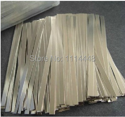 500pcs 0.1 x 8 x 100mm Nickel Plated Steel Strap Strip Sheets for battery spot welding machine Welder Equipment