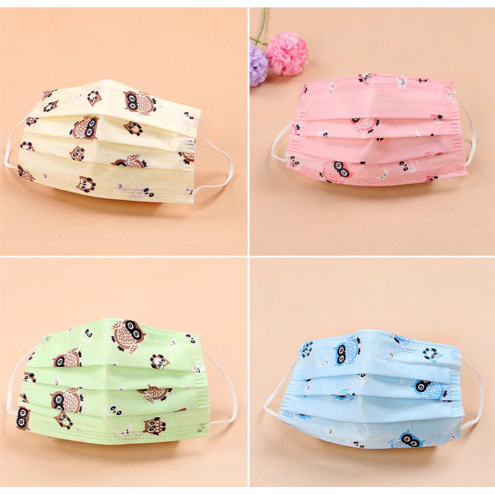 1/5/10pcs Newest 6 Styles Cute Owl Prints Disposable Surgical Dust Face Mask Respirator Medical Mask Health Care Wholesale