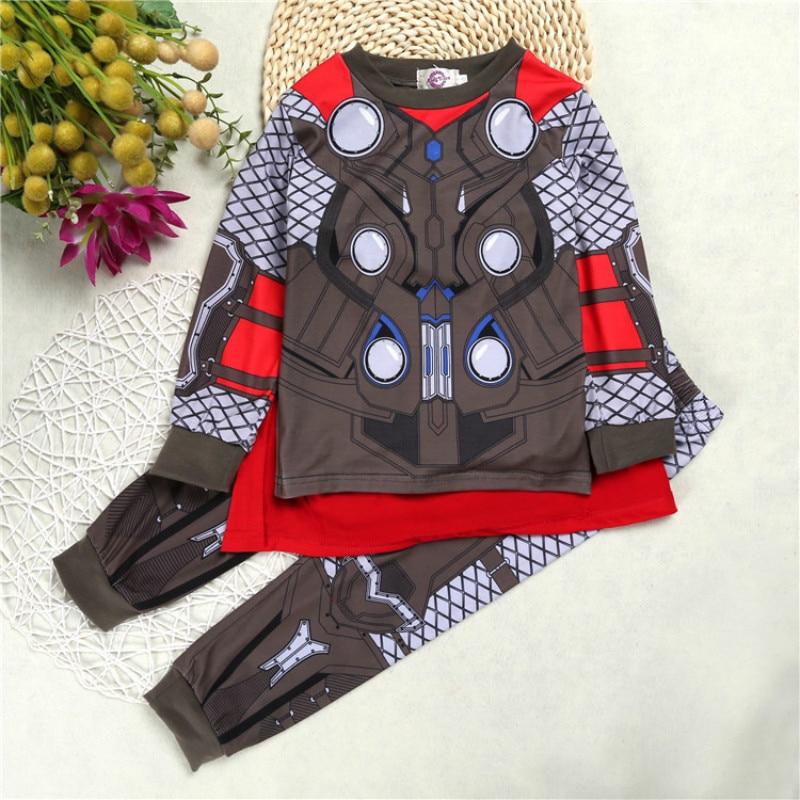 4faa67b7e7730 Children Clothing Sets Cotton Cartoon Hulk Superhero Iron Man ...