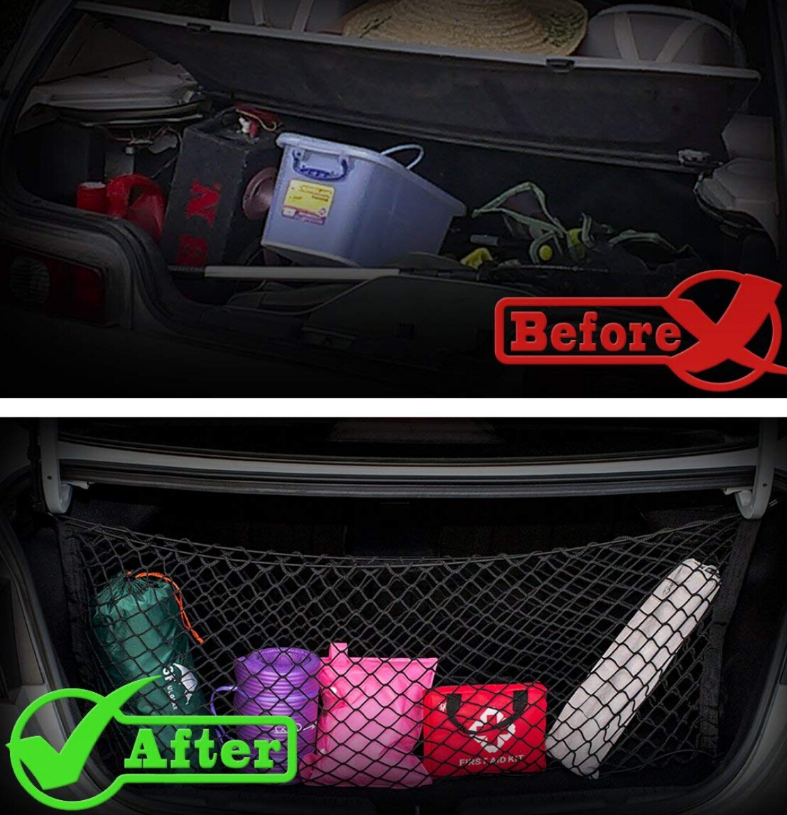 Image 5 - Trunk Cargo Organizer Storage Mesh Net Holder FOR corolla jaguar xf dodge ram 1500 camry 50 mazda 6 passat b5 kia optima-in Car Tax Disc Holders from Automobiles & Motorcycles