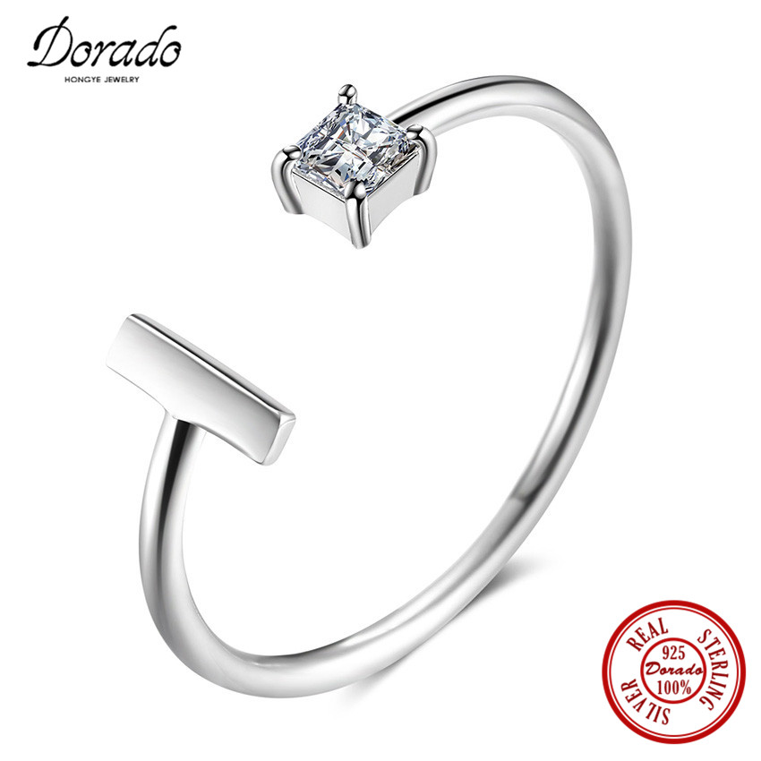Dorado New Arrival Fashion Diverse Shape AAA Zirconia Pure 925 Sterling Silver Finger Rings for Women Jewelry Free Shipping