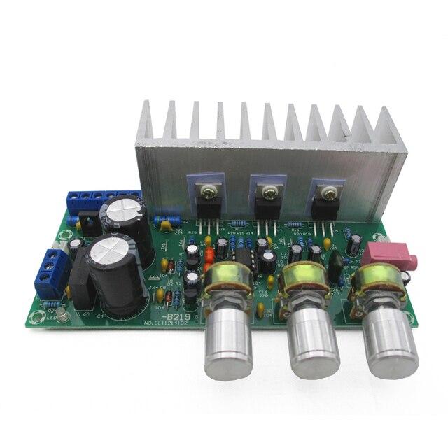 Amplifier board TDA2050 + TDA2030 2.1 three -channel subwoofer amplifier board finished board foot gun 60W