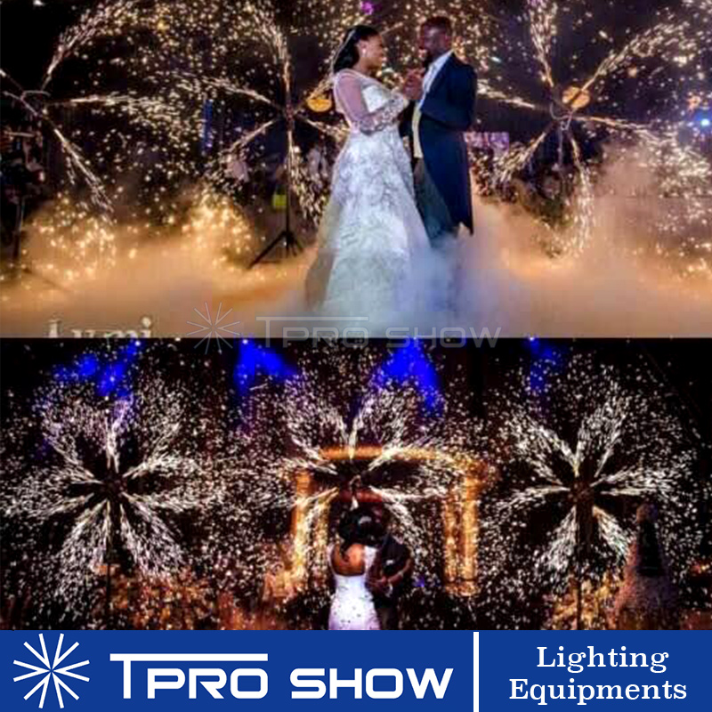 Image 5 - Wedding Cold Fountain Machine Double Spining Remote Pyrotechnics Systems Stage Sliver Flame Light Effect Device-in Stage Lighting Effect from Lights & Lighting