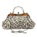 Vintage Women Evening Clutch Bag Flower Embroidery Shoulder Bag Female Party Shoulder Bags for Women Bolsa Classical Big Handbag