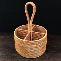 handmade rattan storage box Remote control red wine bottle tea table Sundries storage baskets for toys Stationery toy basket
