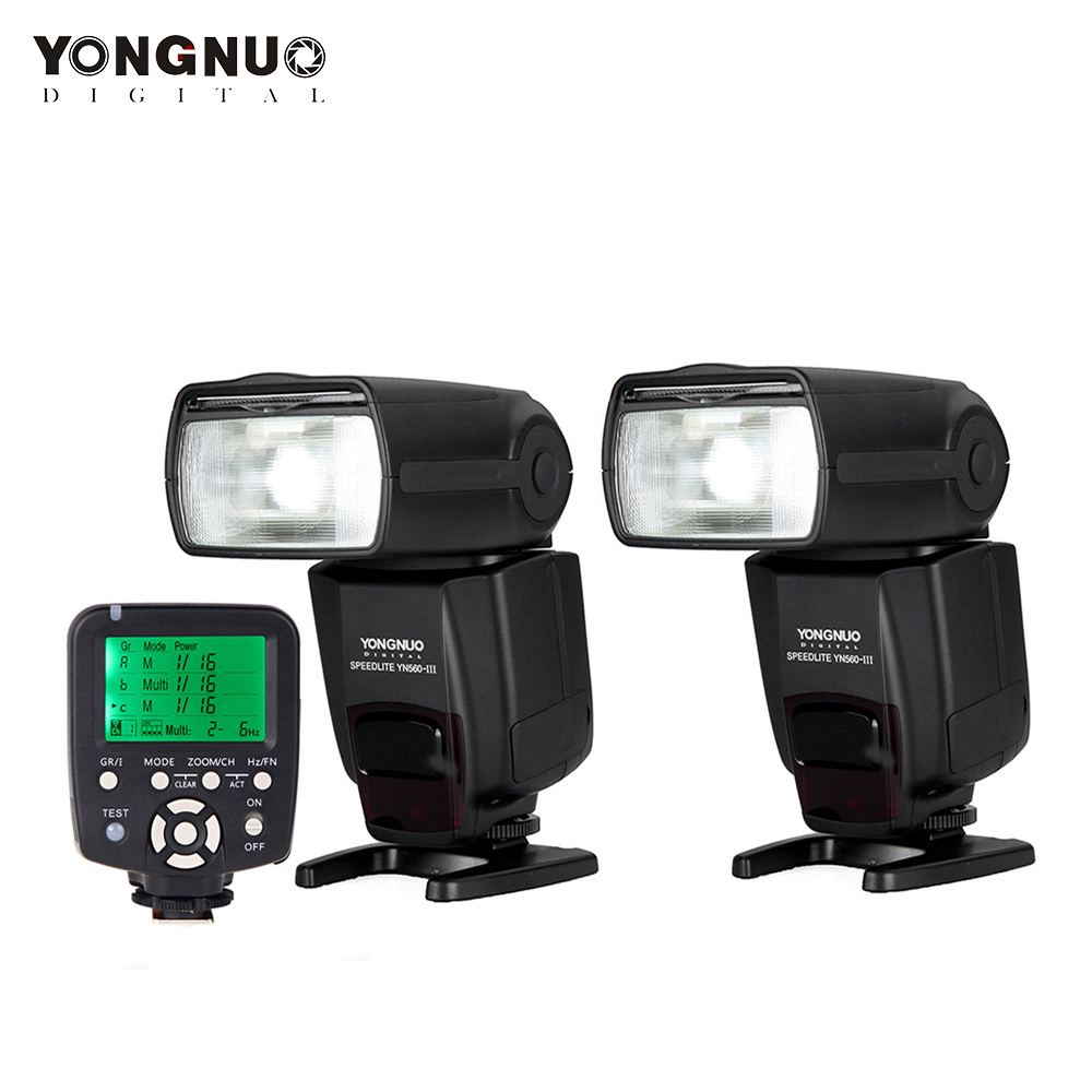 Yongnuo YN560 TX Wireless Flash Controller Commander 2 Pcs Yongnuo Flash Speedlite Speedlight YN560 III Support