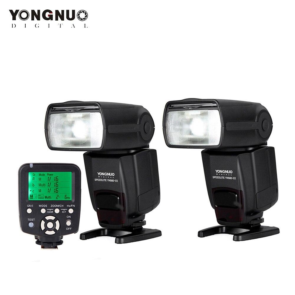 Contrôleur de Flash sans fil Yongnuo YN560 TX Commander + 2 pièces Yongnuo Flash Speedlite YN560 III Support de RF 602/603-in Accessoires pour studio photo from Electronique    1
