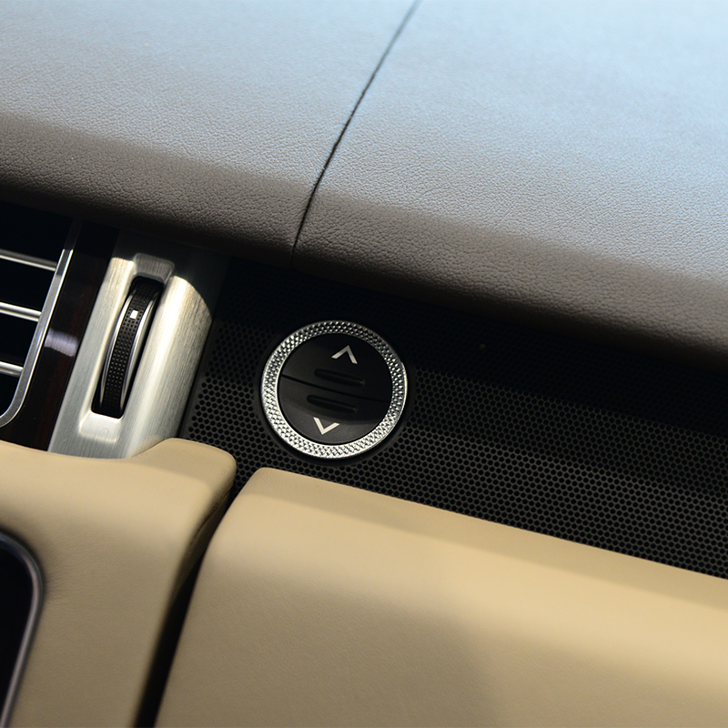 Co-pilot storage box button ring Trim For Land Rover Range Rover Sport Vogue ABS Chrome Accessories Car Styling 2017 silver black side fender sticker for land rover range rover evoque 2011 2016 abs chrome car accessories