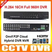 Nuevo HD Lleno 960 H 16Ch CCTV Dvr D1 Lleno 1080 P HDMI de Salida HVR NVR DVR 3 En Un Teléfono Móvil y Vista de Red Dvr