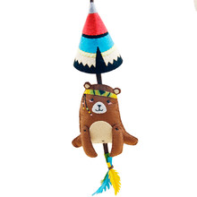 Felt Cloth Easy DIY Car Pendant Cute Bear Design Bag Ornament Manual Work Handmade Key Pendant Felt DIY Material Package(China)