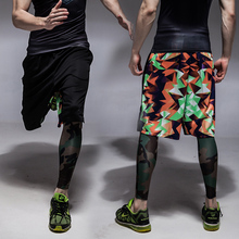 New arrival Men outdoor sports basketball running jogging shorts Camouflage sports  fitness sports running shorts free shipping