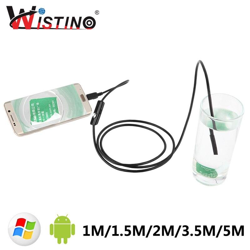 5.5mm Mini Endoscopio Per Smartphone Fotocamera Android Cavo Usb Tubo Di Ispezione Fotocamera Impermeabile Led Di Sorveglianza Hd Endoscopio I Colori Stanno Colpendo