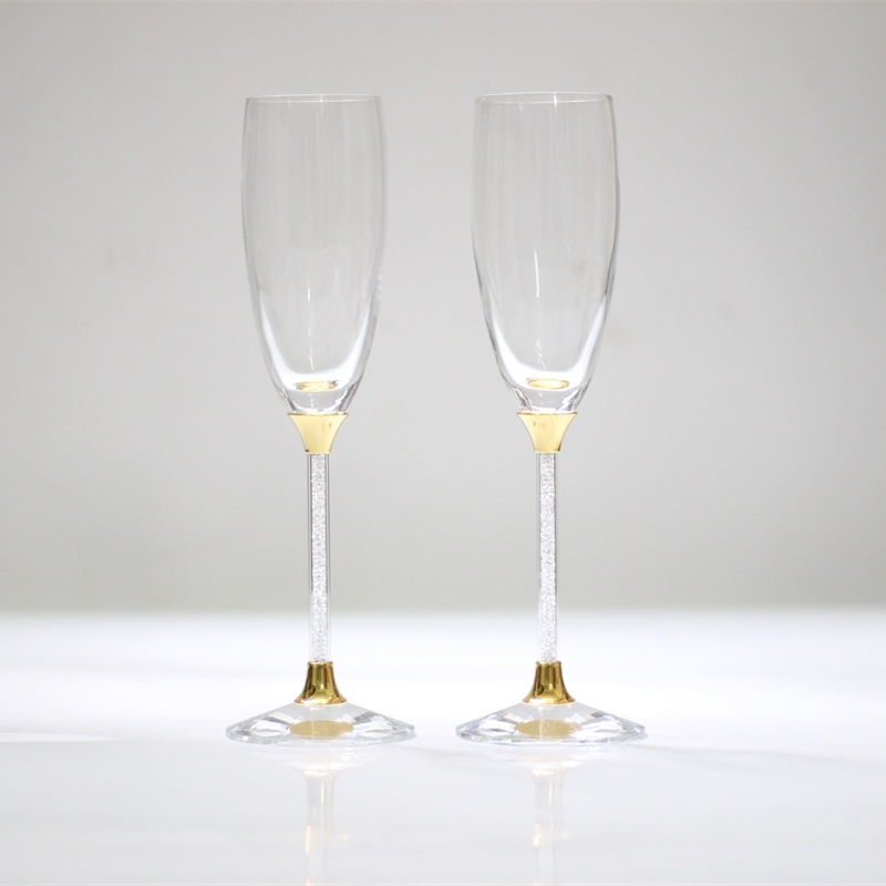 Wedding Gift Champagne Flutes: 2017 Personalized Wedding Wine Glasses Gold Toasting