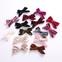 New Cute 1PC Baby Velvet Bow knot Barrette Hair Clip Korean Children Girls Pin Accessories