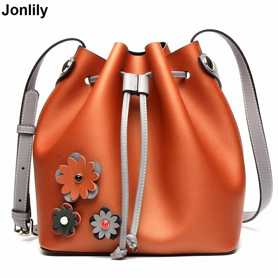 New Bucket Shoulder Bags Composite Genuine Leather Handbags Famous Brand Design Women Messenger Bags Fashion LI-1718 composite structures design safety and innovation