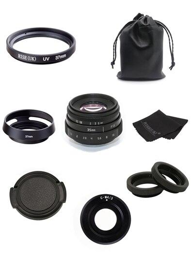 Новое поступление Фуцзянь 35 мм f1.6 C крепление Камера Объективы для видеонаблюдения II для M4/3/MFT крепление Камера и адаптер черный Бесплатная ...
