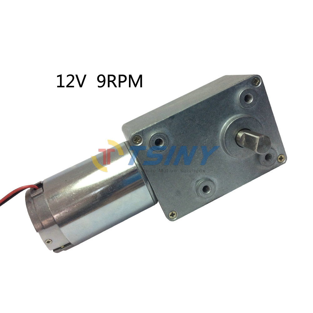 Super 12v pmdc worm gear motors variable speed 9rpm for Dc motor variable speed