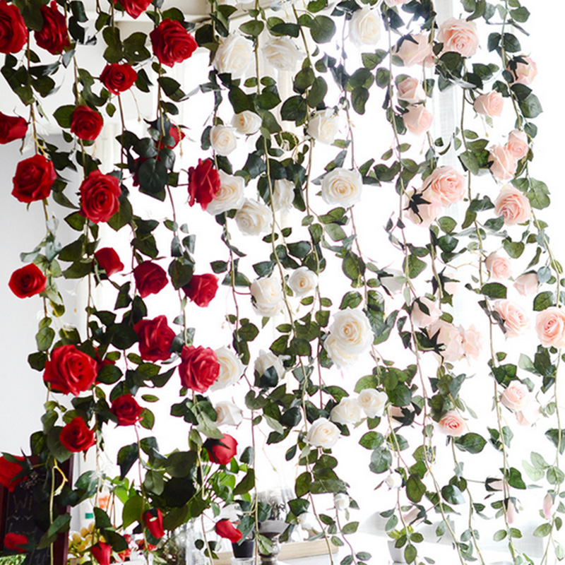 Rose Silk Flower Artificial Flowers Long Stem China