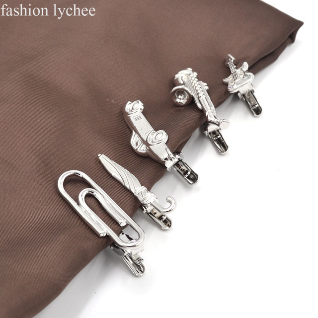 Lychee Metal Tie Clip Gentlemen Classy Necktie Bar Clasp Pin Guitar Car Wedding Jewelry