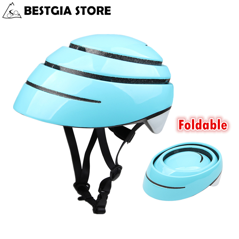 New Folding Road Bicycle Helmet Ultralight Portable Bike Sport Helmet City Leisure Riding Cycling Foldable Helmet