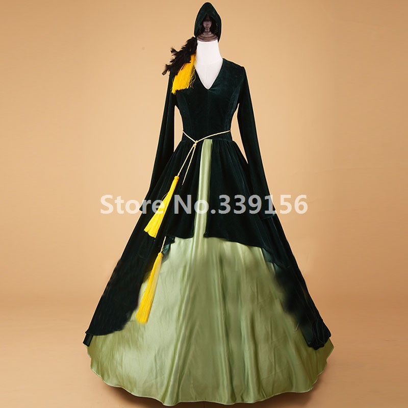 Victorian Medieval Gothic Princess Dress Carnivale Women Soldier Ball Gown Upscale Theatre Masquerade Costume
